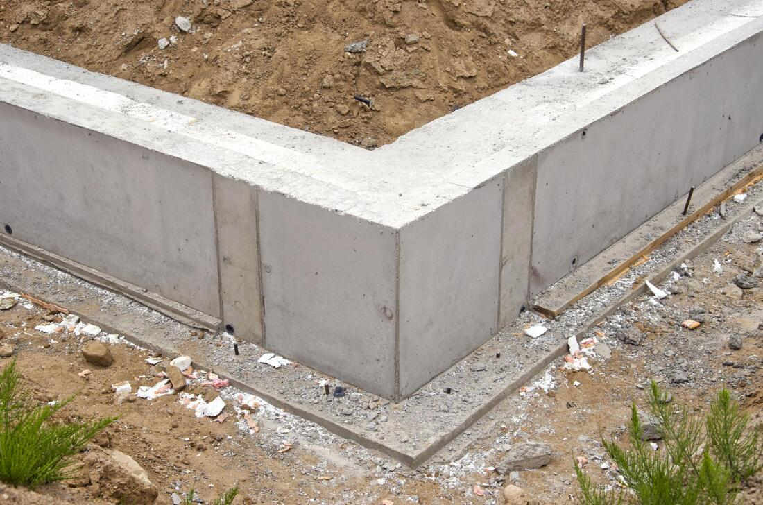 high-quality concrete footings and foundations